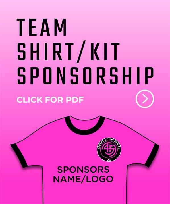 Team Shirt/Kit Sponsorship